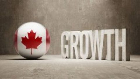 Canadian Flag Growth Text